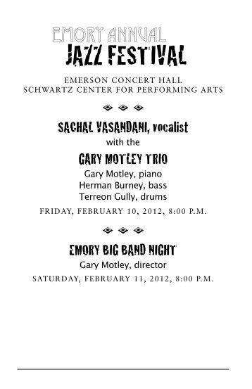 Jazz Festival - Arts at Emory - Emory University