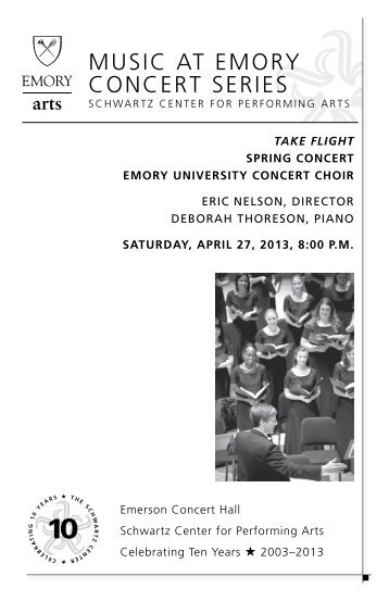 muSiC AT EmorY ConCErT SEriES - Arts at Emory - Emory University