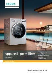Appareils pose libre - Siemens Home Appliances