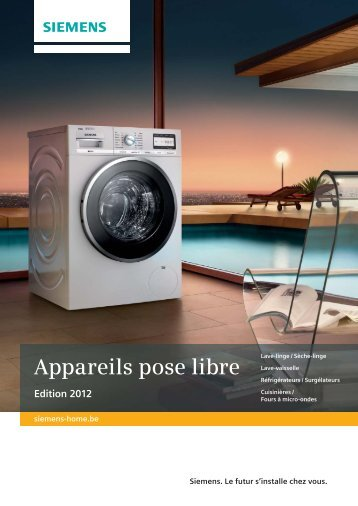 Appareils pose libre - Siemens Home Appliances