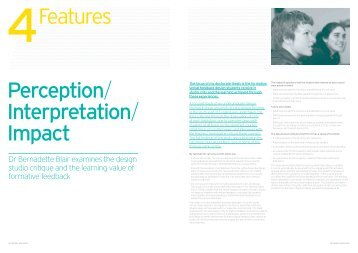 Bernadette Blair feature issue 1 - University of Brighton - Faculty of Arts