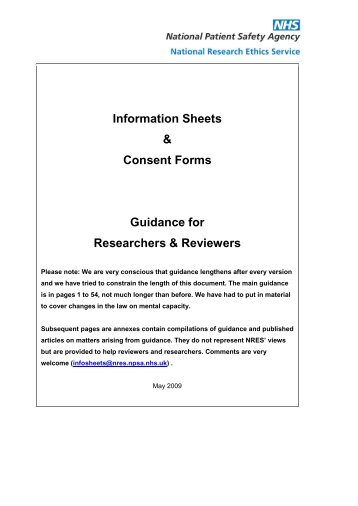 Example 3: Information Sheet And Consent Form - Dcsi