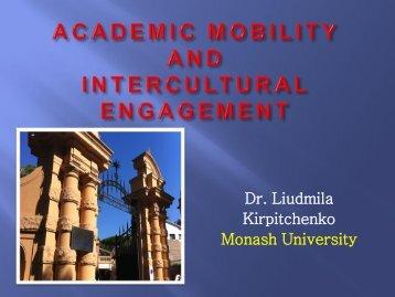 Presentation Liudmila K - Monash Arts Profiles - Monash University