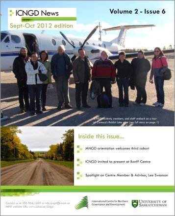 ICNGD News - Sept-Oct 2012 edition - College of Arts and Science ...
