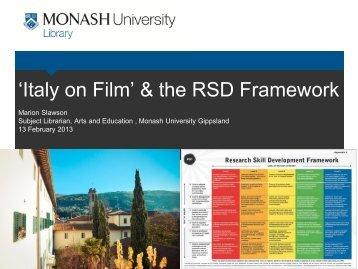 Creating-spaces-RSD Marion Slawson - Monash Arts Profiles ...