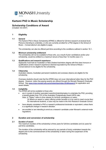 monash mrgs thesis submission