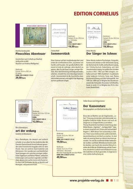 Kinder- und Jugendliteratur - Projekte-Verlag Cornelius