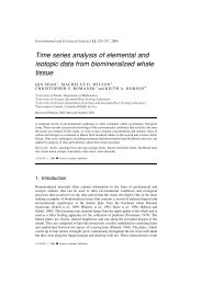 Time series analysis of elemental and isotopic data from ...