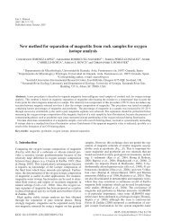New method for separation of magnetite from rock samples for ...