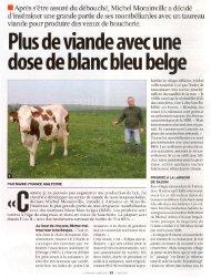 Plus de viande avec une dose de blanc bleu belge - article