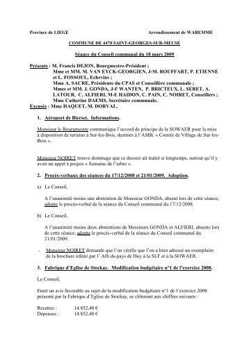 CONSEIL 18 MARS 09 - Saint-Georges-sur-Meuse