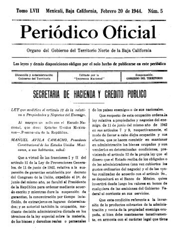 """Periódico Oficial """" - Gobierno del Estado de Baja California"""