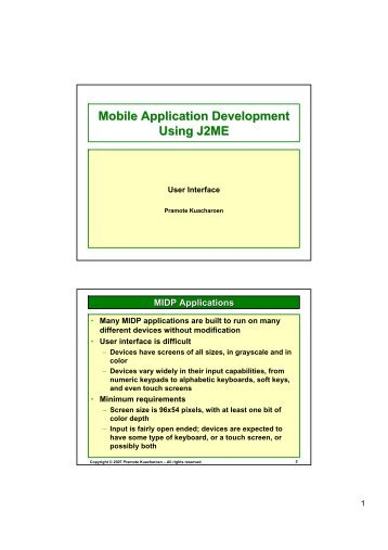 Mobile Application Development Using J2ME - AS Nida