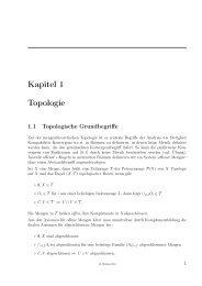 Kapitel 1 Topologie - ASC