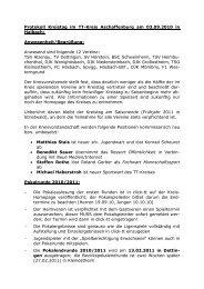 Protokoll zum Kreistag am 03.09.2010 in Haibach - Aschaffenburg