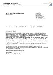 2. Kreisliga Süd Herren - Aschaffenburg
