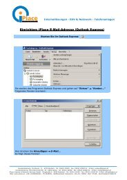 Einrichten: iplace E-Mail-Adresse (Outlook Express)