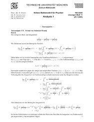 TECHNISCHE UNIVERSIT ¨AT M ¨UNCHEN Analysis 1 - walter h ...