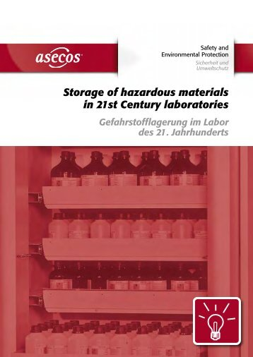 Storage of hazardous materials in 21st Century ... - asecos-Logo