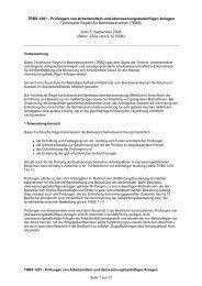 TRBS 1201 - Prüfungen von Arbeitsmitteln und ...