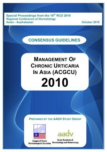management of chronic urticaria in asia (acgcu) 2010 - AADV
