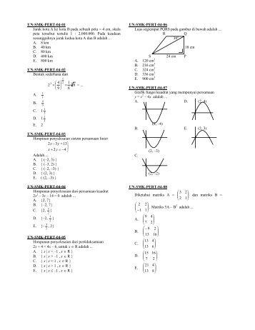 Soal SMK – Matematika SMK PERT