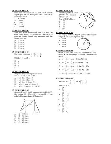 Soal smk matematika smk bis soal smk matematika smk pert ccuart Image collections