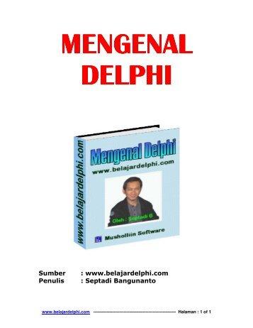 E-Book Mengenal Delphi