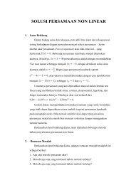 Makalah : Metode Numerik – Solusi Persamaan Non Linear