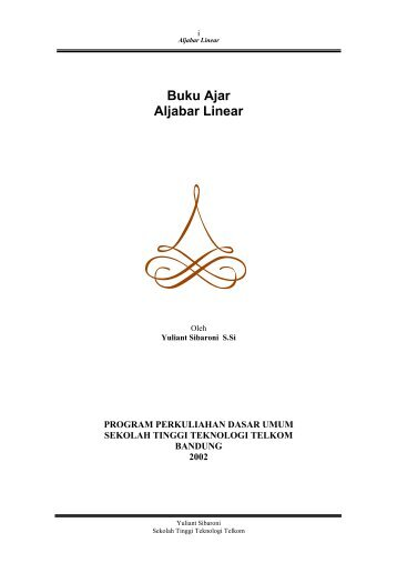 Buku Ajar Aljabar Linear