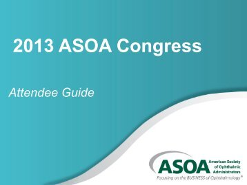 2013 Congress Attendee Guide - ASOA