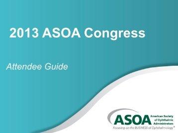 2013 Congress Attendee Guide - ASOA