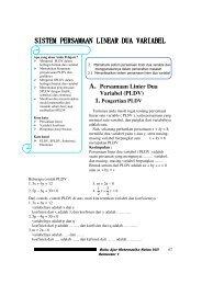 Sistem Persamaan Linear Dua Variabel dan dalam kehidupan