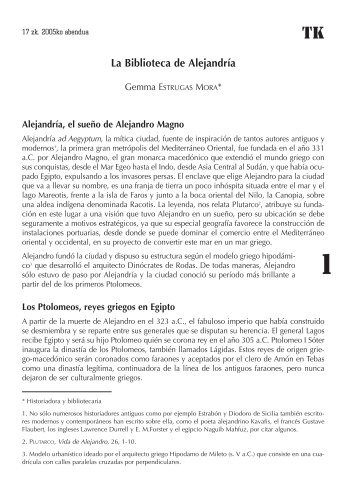 La Biblioteca de Alejandría - Asociación Navarra de Bibliotecarios