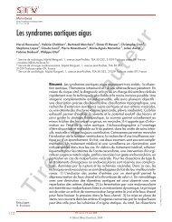 Les syndromes aortiques aigus (paru dans Mini ... - CHU Toulouse