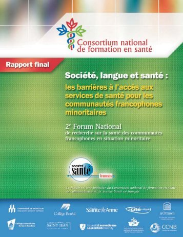 R apportfinal - Consortium national de formation en santé