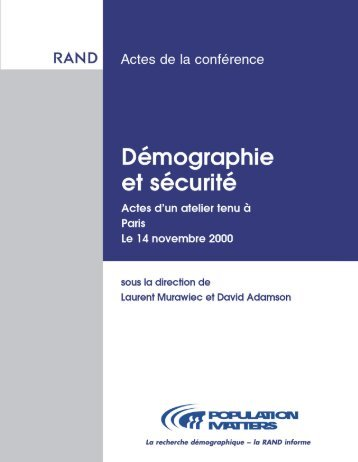 Demographie et Securite [Demography and Security--French ...