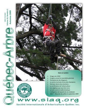 Automne 2009 - Société Internationale d'Arboriculture-Québec inc.