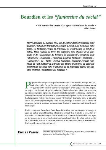 """Bourdieu et les """"fantassins du social"""" - ACTIF"""