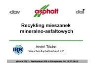 Recykling mieszanek mineralno-asfaltowych - André Täube