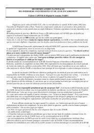 2e assises nationales des IADE et de leur encadrement - Société ...