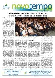 Seminário debate alternativas de transmissão em longas distâncias