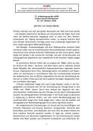 Bericht von Stefan Belda - ASPM