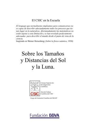 Sobre los tamaños y distancias del Sol y la Luna - El CSIC en la ...