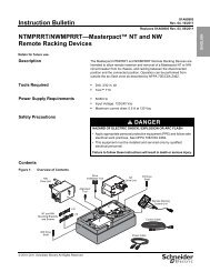 NTMPRRT/NWMPRRT—Masterpact™ NT and ... - Schneider Electric