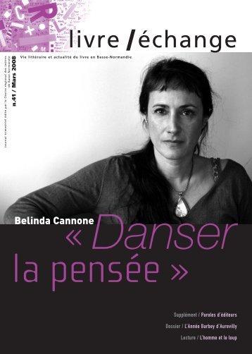N° 41. Mars 2008. - Centre Régional des Lettres de Basse-Normandie