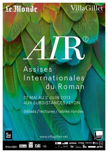 Les Assises Internationales du Roman à Lyon - Villa Gillet