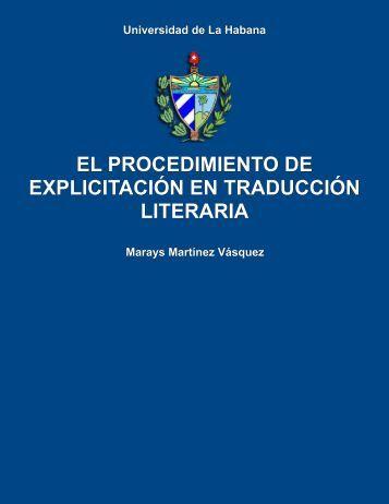 El procedimiento de explicitación en traducción literaria