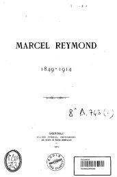 marcel reymond - Bibliothèque numérique de l'école nationale des ...