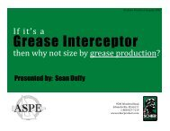 Grease Interceptor Sizing - Sean Duffy, Schier Products